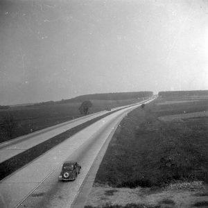 Autobahn bei Triptis nach Fertigstellung 1936